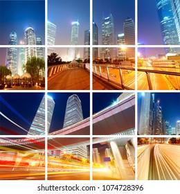 Shanghai City Traffic Scenery