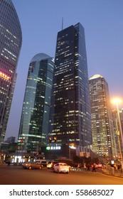 SHANGHAI - FEBRUARY 26: Shanghai world financial center skyscrapers in lujiazui group in Shanghai, China, February 26, 2016.