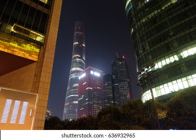 SHANGHAI - FEBRUARY 27: Shanghai world financial center skyscrapers in lujiazui group in Shanghai, China, February 27, 2016.