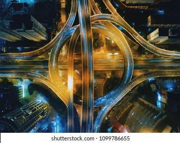 shanghai highways aerial photography