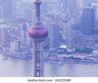 Shanghai landmark-Oriental Pearl Tower