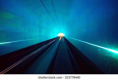 Shanghai light tunnel Long exposure concept