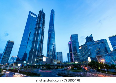shanghai lujiazui financial center aside the huangpu river.