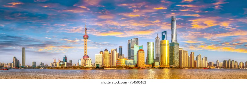 Shanghai Lujiazui panoramic view