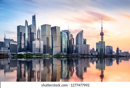 Shanghai Lujiazui Sunset