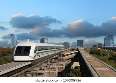 The shanghai Maglev train The running