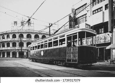 Shanghai, China, March 10, 2017: Shanghai film and television city is mainly the old Shanghai style, reproducing the classic scenes and buildings of Shanghai at the beginning of the last century.