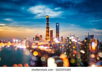 Shanghai night scenery