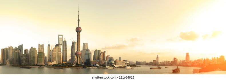 Shanghai panoramic photo skyline