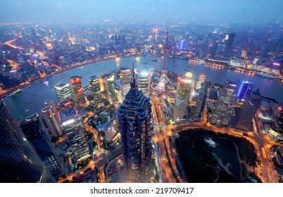 Shanghai Pu dong - Dawn view
