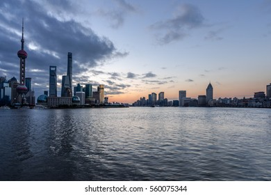 Shanghai skyline in China.
