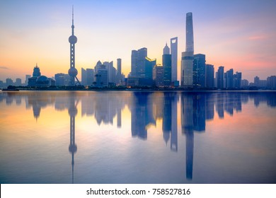 Shanghai skyline in the morning, Shanghai China