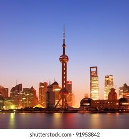 shanghai with sunrise