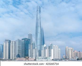 Shanghai Tower cityscape