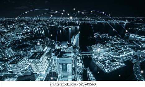 Shanghai urban landscape data network