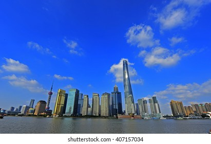 Shanghai world financial center skyscrapers in lujiazui group