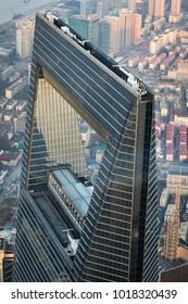 Shanghai World Financial Tower, Shanghai, China - December 20, 2017