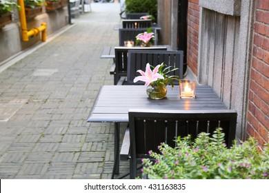 Shanghai Xintiandi outdoor restaurant