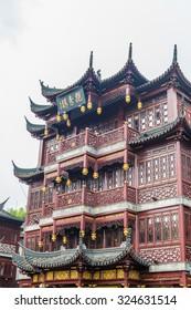 Shanghai yuyuan garden traditional Building