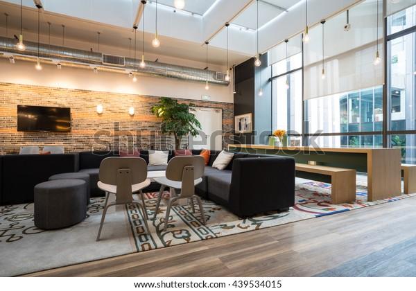 Shanghai,China - JUN.18,2016: Interior of SOHO office Lobby & meeting room in shanghai, China.