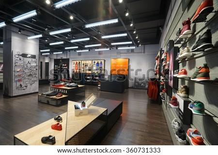 baf4a2a1a9fd Stock fotografie na téma Shanghai China DEC 232015 Nike Store ...