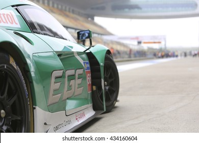 Shanghai,China-May 22,2106:Audi R8 car Customer driving experience at Shanghai F1 track.This a open event no need press credentials required.