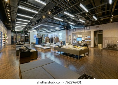 Shanghai.China-MAY,1st,2017;nike store interior display.Famous sports fashion brand worldwide and it is one of the world's largest suppliers of athletic shoes and apparel.It's the first brand in Chin