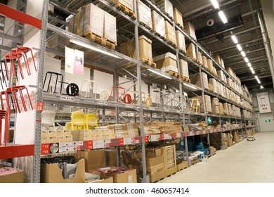 SHANGHAI-JULY 2015, 9 Baoshan District Shanghai IKEA store logistic warehouse