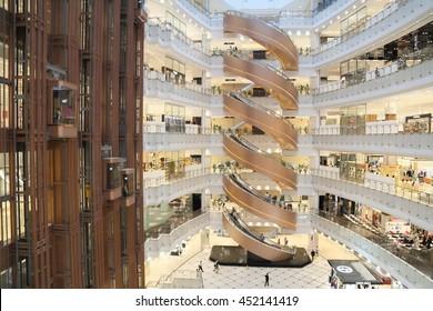 SHANGHAI-JULY 2015, 9 Shanghai New World Shopping Mall