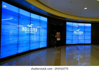 SHANGHAI-JUNE. 26, 2015. HOLLISTER STORE. China accounts for about 20 percent, or 180 billion renminbi ($27 billion1 ) of global luxury sales in 2015, according to new McKinsey research.