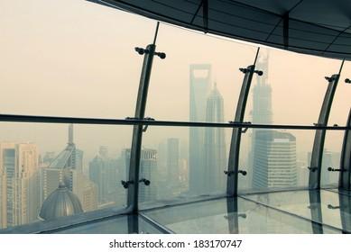 In Shanghai's air corridor