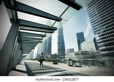 Shanghai's high-rise buildings, an international financial center.