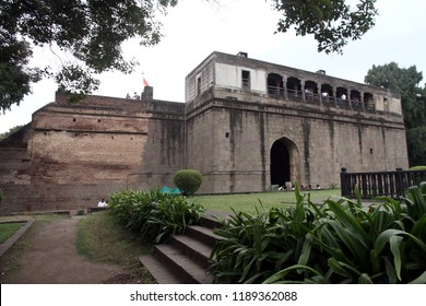 Shaniwar wada fort, Pune. India. Built in 1732 it was the seat of the Peshwas of the Maratha Empire  until 1818
