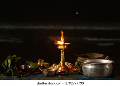 Shankumugham beach, Thiruvananthapuram, Kerala, India, August 2, 2016 - Vavu Bali, paying homage to ancestors. Puja (A ritual) is performed on riverbanks and beaches on the no moon