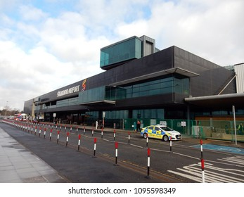 Shannnon, Ireland-April 9, 2018: Shannon Airport is one of three primary airports in Ireland. The airport was established in 1942. It is a destination  for transatlantic flights.