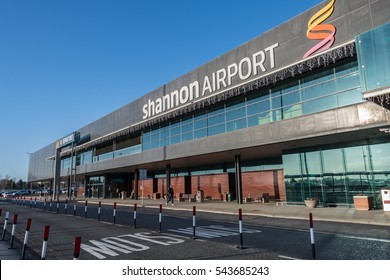 Shannon Airport, Ireland - December 27th 2016: Shannon Airport is Irelands 2nd largest airport in Ireland County Clare. A key airport into the West of Ireland for tourism and industry.