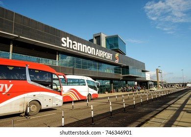 Shannon Airport, Ireland - November 1st 2017: Shannon Airport is Ireland's 2nd largest airport in Ireland County Clare. A key airport into the West of Ireland for tourism and industry.