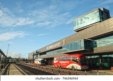 Shannon Airport, Ireland - November 1st 2017: Shannon Airport is Ireland's 2nd largest airport in Ireland County Clare. A key airport into the West of Ireland for tourism and industry. Expressway bus