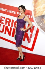 Shannon Elizabeth at the Los Angeles premiere of 'American Reunion' held at the Grauman's Chinese Theatre in Hollywood, USA on March 19, 2012.