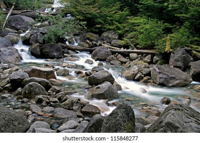 Shannon Falls Creek in British Columbia, Canada