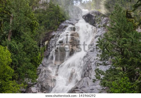 Shannon Falls - the third highest falls in British Columbia, Canada.