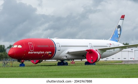 Shannon, Ireland - July 2021: Norwegian, Boeing 787 at Shannon Airport.