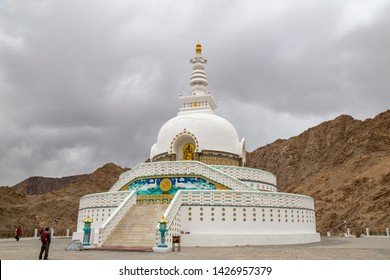 Shanti Stupa is a Buddhist white-domed stupa (chorten) on a hilltop in Chanspa, Leh district, Ladakh, India. Locate on north Indian state of Jammu and Kashmir