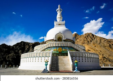 Shanti Stupa is a Buddhist white-domed stupa (chorten) on a hilltop in Chanspa, Leh district, Ladakh, in the north Indian state of Jammu and Kashmir
