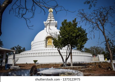 SHANTI STUPA,RAJGIR,BIHAR,INDIA-3 MARCH2019:RAJGIR IS A CITY AD A NOTIFIED AREA IN NALANDA DISTRICT IN THE INDIAN STREET OF BIHAR.ALSO THIS AREA IS NOTABLE IN JAINISM AND BUDDHISM.