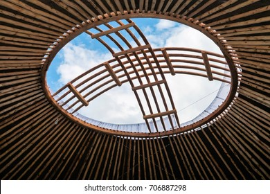 shanyrak, the roof of the yurt the hole in the sky