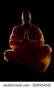 Shaolin monk meditating