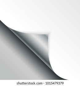 Shape of bent angle is free for filling silver color.  Illustration.