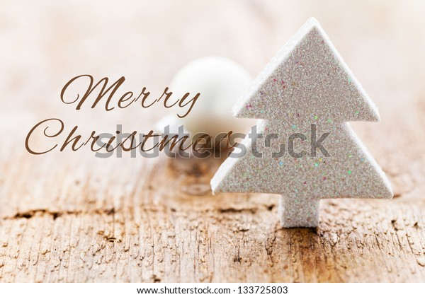 Shape of a christmas tree with text