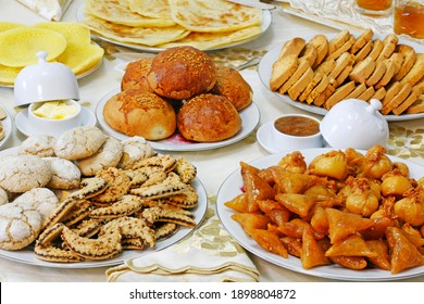 Shapes of sweets and Moroccan pastries